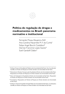 Política de regulação de drogas e medicamentos no brasil