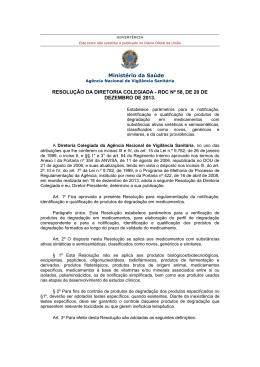 RDC nº 58, de 20 - Ministério da Saúde