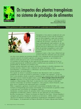 Os impactos das plantas transgênicas no sistema de