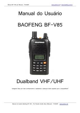 Manual BF-V85 em PT-BR