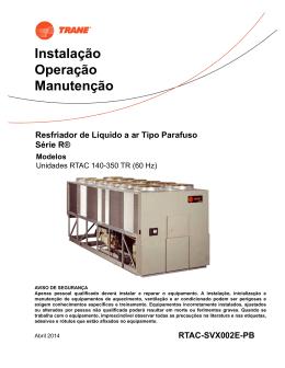 Chiller Parafuso RTAC - Nacional
