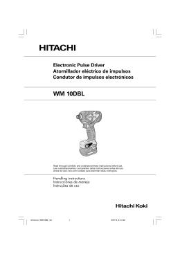 WM 10DBL - Hitachi Koki