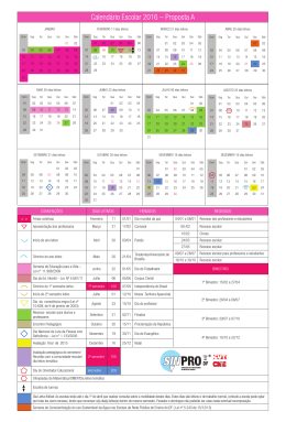 Calendário Escolar 2016 – Proposta A - sinpro-df