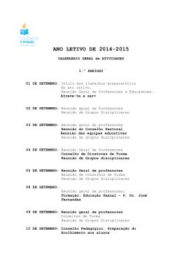 ANO LETIVO DE 2014-2015