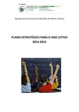 PLANO ESTRATÉGICO PARA O ANO LETIVO 2014-2015