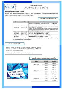 2015-08-18 - Informações Início do Ano Letivo