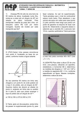 1) (Cesesp-PE) Do alto de uma torre de 50 metros de altura