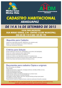 Cadastro Habitacional Araguapaz AHDM Corrigido