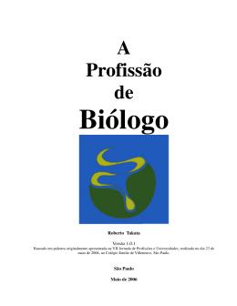 A Profissão de Biólogo