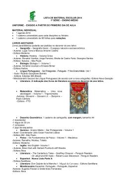 lista de material escolar-2014 1ª série – ensino médio uniforme