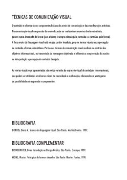 bibliografia bibliografia complementar técnicas de comunicação visual