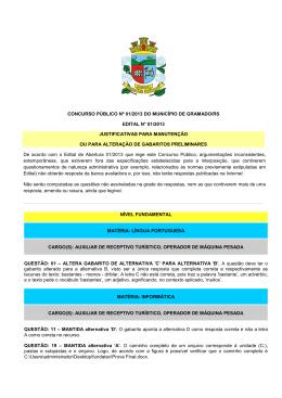 concurso público nº 01/2013 do município de gramado/rs edital n
