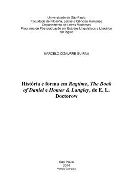 História e forma em Ragtime, The Book of Daniel e Homer