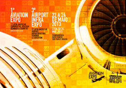 3ª AIRPORT INFRA EXPO 1ª AVIATION EXPO