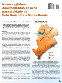 Novos registros documentados de aves para a cidade de Belo