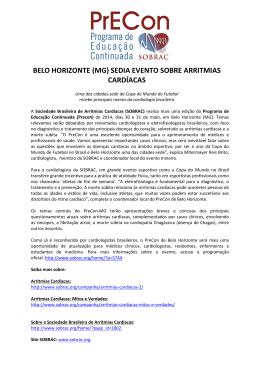 Release Precon Belo Horizonte (MG)