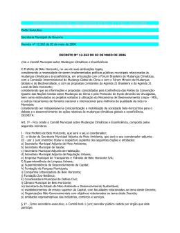 Diário Oficial do Município - Belo Horizonte Ano XII
