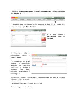 Contracheque Santander