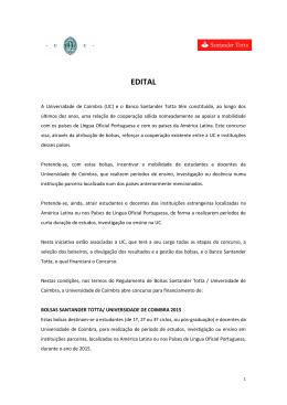 EDITAL - Universidade de Coimbra