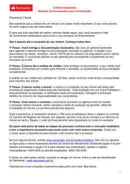 relação de documentos banco santander