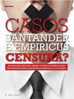 Casos Santander e Empiricus: Censura?