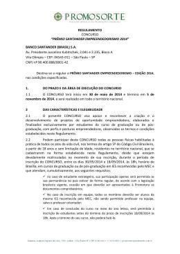 PRÊMIO SANTANDER EMPREENDEDORISMO 2014