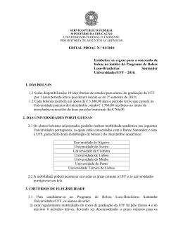 Edital - Universidade Federal Fluminense