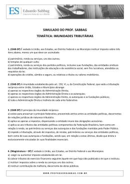 imunidades tributárias - Professor Eduardo Sabbag