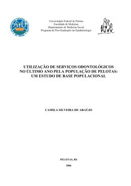 um estudo de base populacional - Centro de Epidemiologia Ufpel