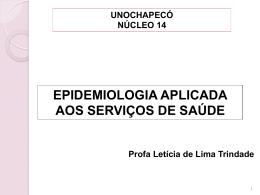 epidemiologia aplicada aos serviços de saúde