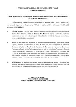PROCURADORIA GERAL DO ESTADO DE SÃO PAULO