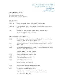 Jorge Queiroz - Sikkema Jenkins & Co.