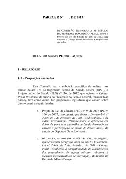 Relatório final do Código Penal