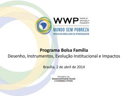 Programa Bolsa Família: Desenho, Instrumentos, Evolução