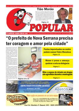 ´2 prefeito de Nova Serrana precisa ter coragem e amor pela cidadeµ