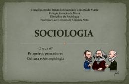 Sociologia Clássica - Colégio Coração de Maria
