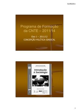 Eixo 01 - Fascículo 01 - Introdução à Sociologia (Slides)