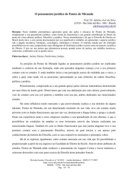 O pensamento jurídico de Pontes de Miranda