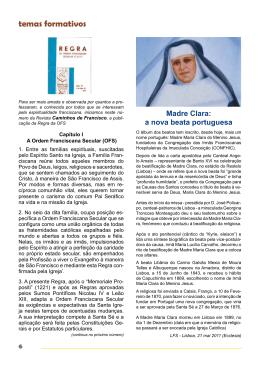 Julho - Vários temas (Sta. Beatriz da Silva entre outros)