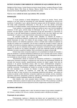 EXTRATO DO MURICI COMO INIBIDOR DE CORROSÃO