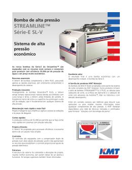 Bomba de alta pressão STREAMLINE™ Série-E SL-V