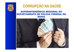 CORRUPÇÃO NA SAÚDE