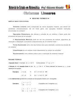 Sistemas Lineares - MEM - Prof Giacomo Bonetto
