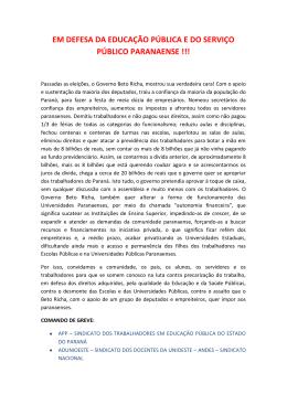 Carta aberta EM DEFESA DA EDUCACAO