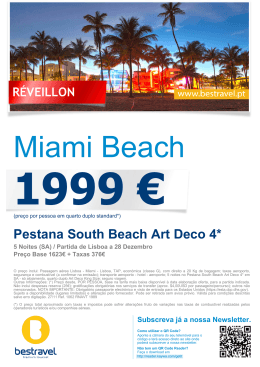Pestana South Beach Art Deco 4*
