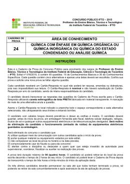 24 - Quimica - Enfases - Seletivos IFTO