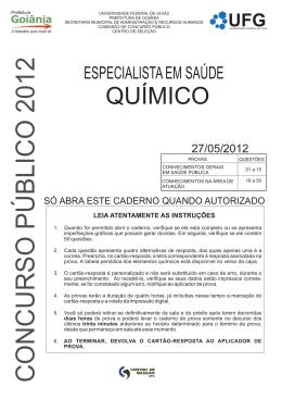 Especialista em Saúde - Prefeitura de Goiânia