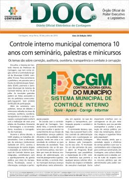Controle interno municipal comemora 10 anos com seminário