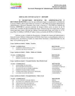 PROCESSO N - Prefeitura de Goiânia