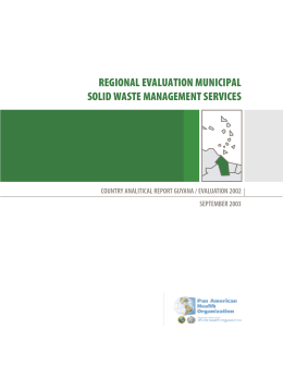 regional evaluation municipal solid waste - BVSDE
